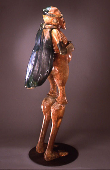 Bill Abright - Ceramic Figures-Pollenator-side view