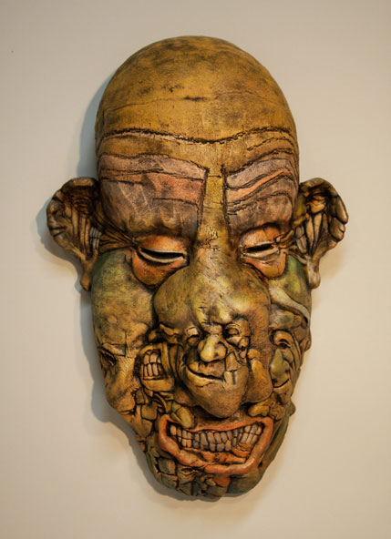 Bill Abright ceramic Mask- Boogie Man