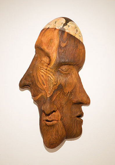 Bill Abright ceramic Mask- Old Growth