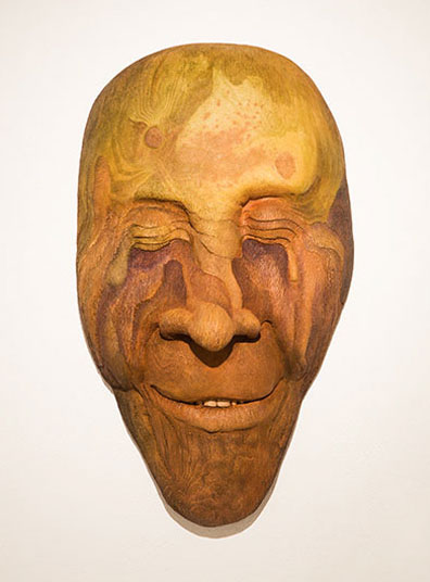 Bill Abright ceramic Mask- Rainforest